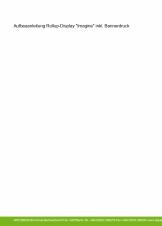 "Aufbau Rollup-Display ""Imagine"" inkl. Bannerdruck"