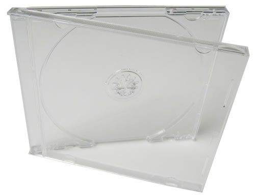 CD-Jewelcase mit transparentem Tray - 50 Stück (CD-Huellen Jewel Case)