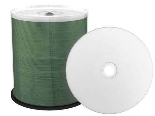 CD-Rohlinge - bedruckbar/inkjet printable weiss - 100 Stück - metallisiert (CD-Rohlinge bedruckbar)