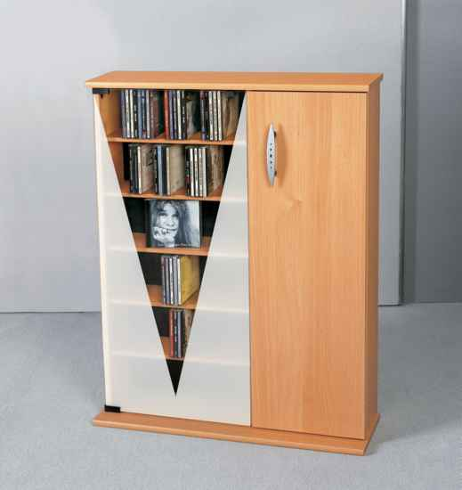 vcm cd schrank scala mit holzt r f r 360 cds oder 156 dvds. Black Bedroom Furniture Sets. Home Design Ideas