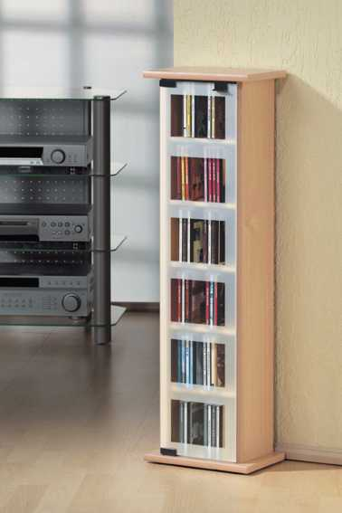 vcm cd turm centro mit glast r f r 102 cds oder 44 dvds im cd fachmarkt direktversand cd turm. Black Bedroom Furniture Sets. Home Design Ideas