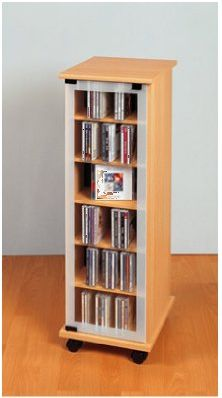 vcm cd turm valenza drehbar mit glast r f r 300 cds oder 136 dvds im cd fachmarkt direktversand. Black Bedroom Furniture Sets. Home Design Ideas